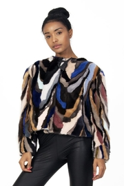 AntoinetteDema Peacock Mink Jacket - Front cropped
