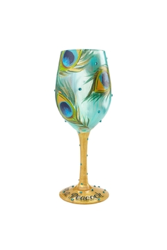 Lolita Peacock Wine Glass - Product List Image