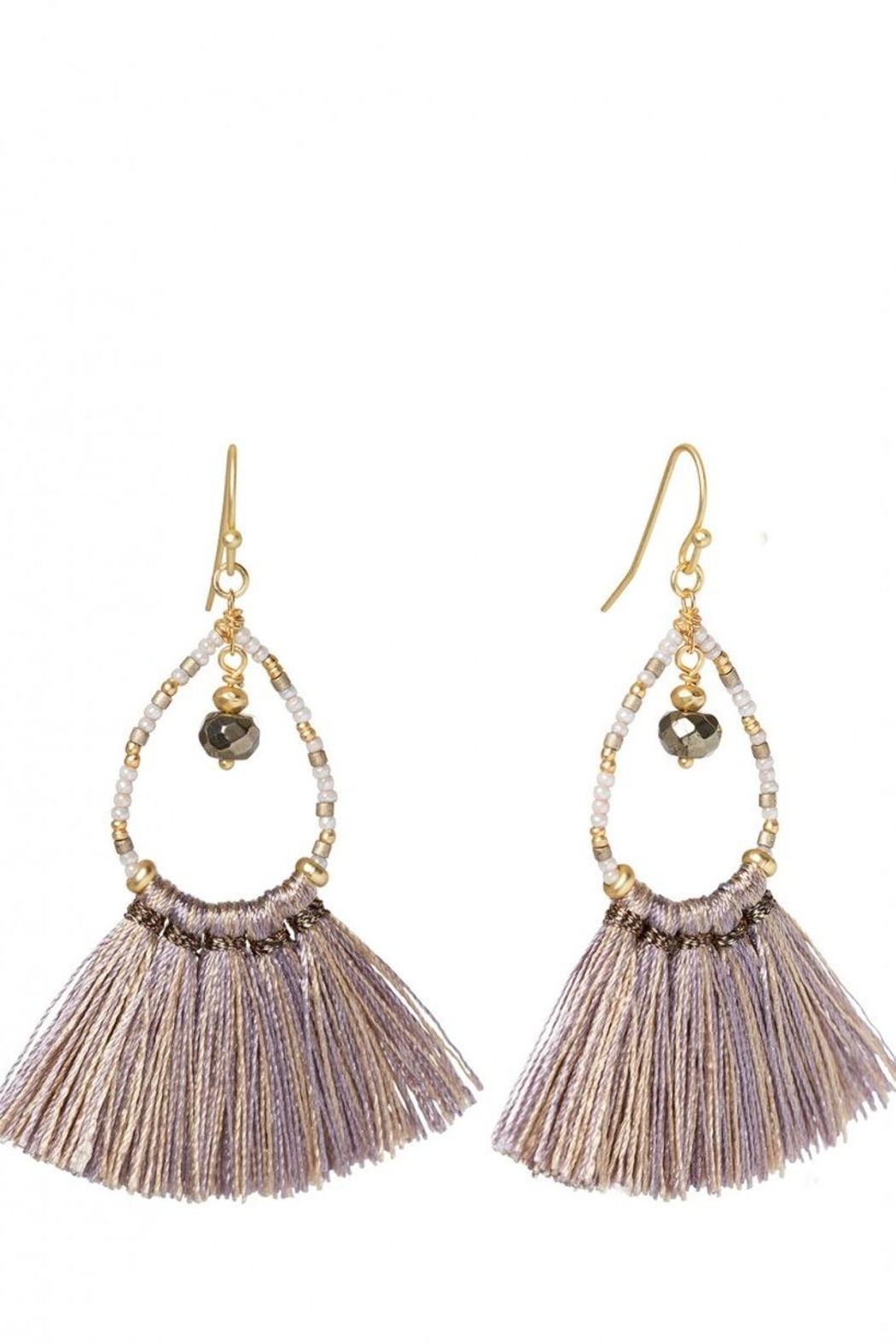 Spartina 449 Pear Fringe Earrings - Main Image