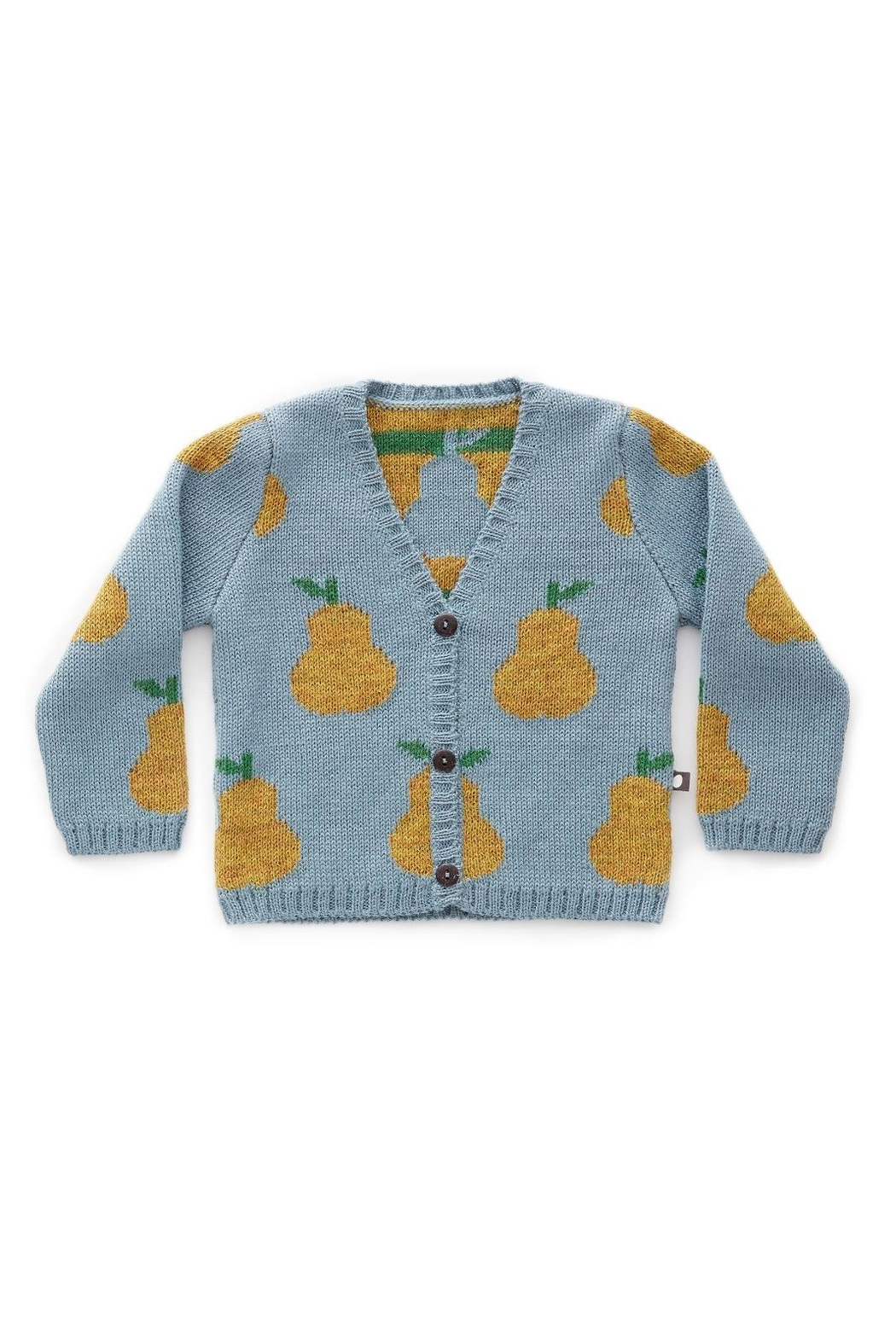 Oeuf Pear Kids' Cardigan - Front Cropped Image