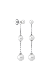 Majorica Pear Tiered Drop Stud Earring - Product Mini Image