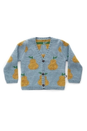Oeuf Pear Toddler Cardigan - Front cropped