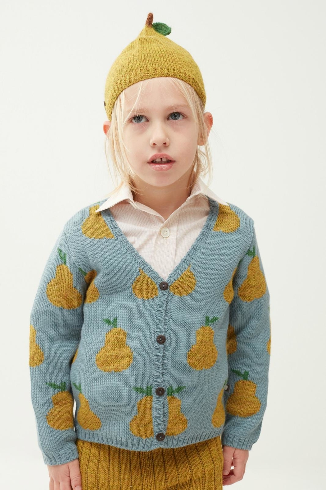 Oeuf Pear Toddler Cardigan - Front Full Image