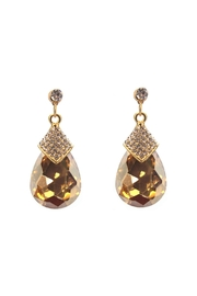 Sassy South Pear Topaz Dangle-Earrings - Product Mini Image