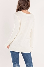 Miss Me Pearl Accent Sweater - Side cropped