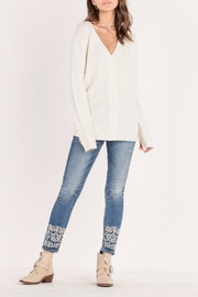 Miss Me Pearl Accent Sweater - Back cropped