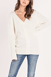 Miss Me Pearl Accent Sweater - Front full body