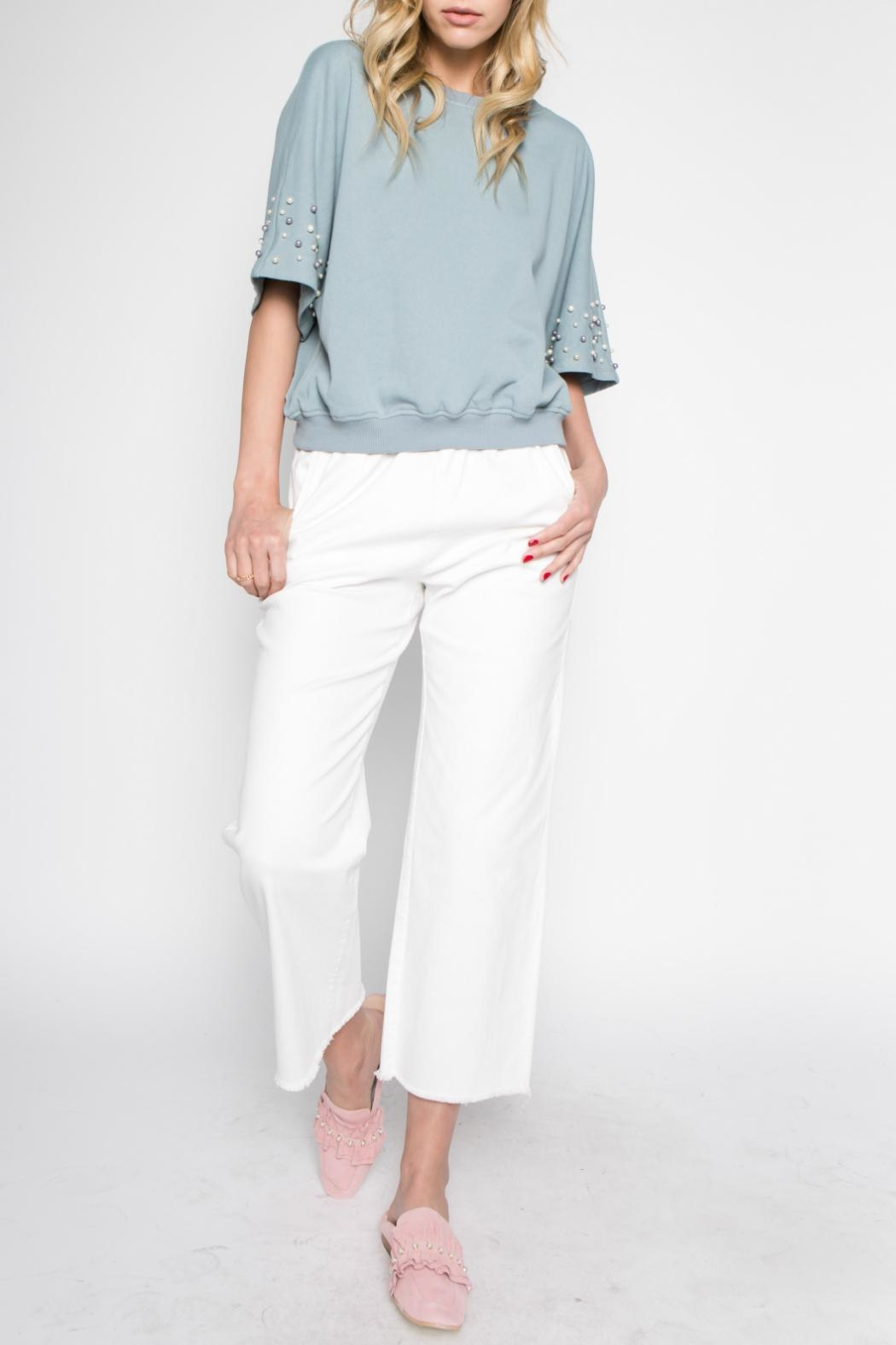 Hashtag Pearl Accent Top - Main Image