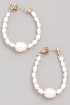 Shoptiques Product: Pearl Bead Hoops