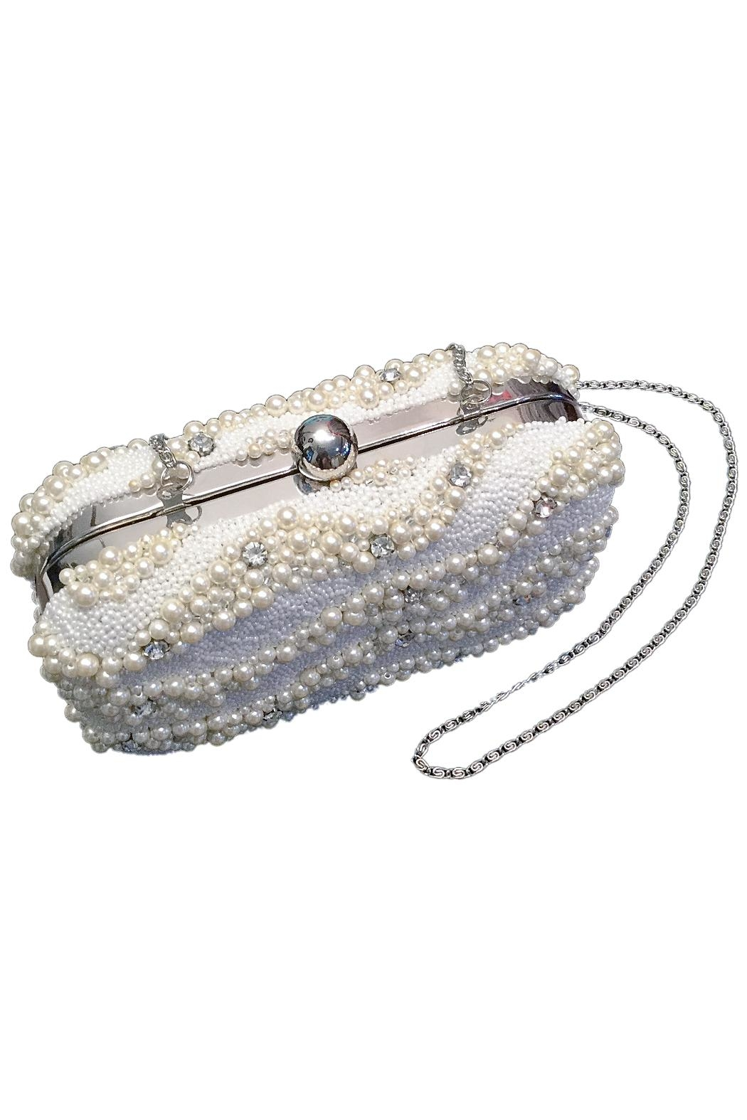 Scarborough Fair Pearl Beaded Clutch - Front Full Image