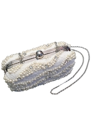 Scarborough Fair Pearl Beaded Clutch - Front full body