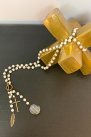 CAROL SU PEARL BEADS/CROSS - Front cropped