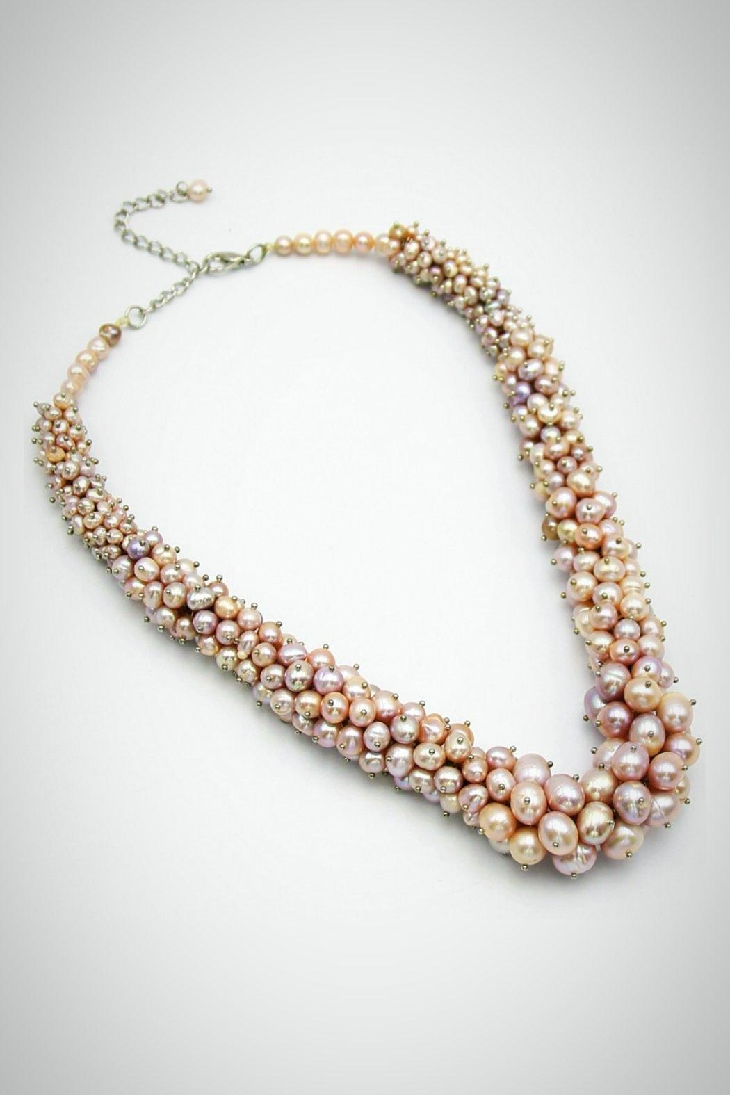 Embellish Pearl Beauty Necklace - Front Cropped Image
