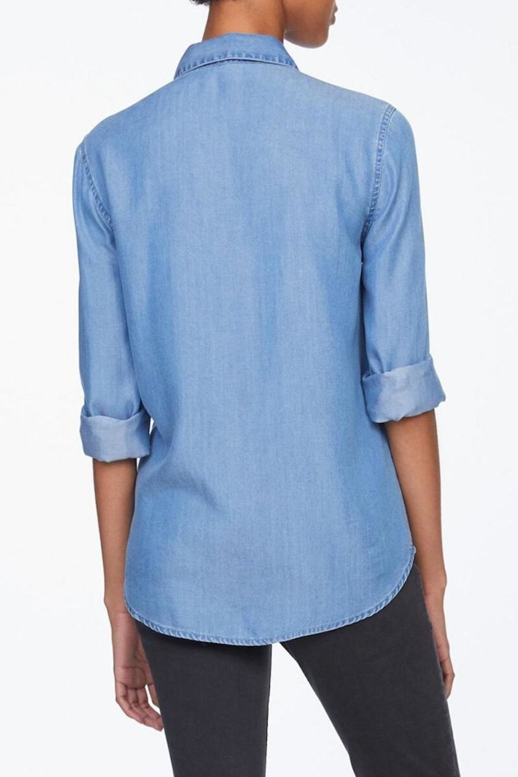 Beach Lunch Lounge Pearl Button Down - Front Full Image