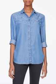 Beach Lunch Lounge Pearl Button Down - Front cropped
