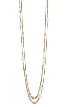 Canvas Pearl Chain Necklace - Alternate List Image