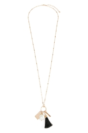 Riah Fashion Pearl Charm Necklace - Product Mini Image
