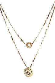 Volare Pearl Charm Necklace - Product Mini Image