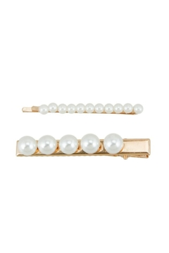 Shoptiques Product: Pearl Clip-And-Pin Set