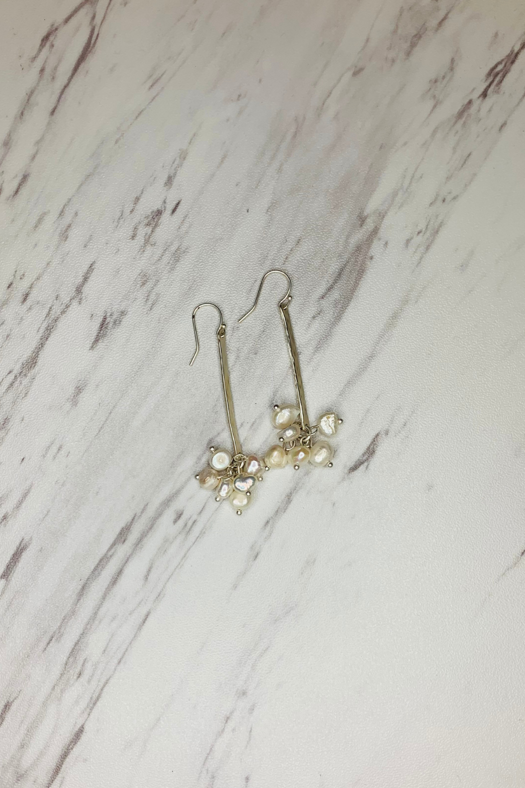 Escape From Paris Pearl Cluster Drop Earrings - Front Cropped Image