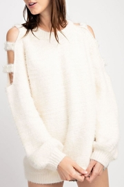 easel Pearl Cold-Shoulder Sweater - Product Mini Image
