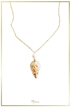 Malia Jewelry Pearl Conch Necklace - Product List Image