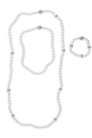 C+I Pearl Convertible Necklace Bracelet Set - Product Mini Image