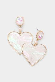 Embellish Pearl/crystal Heart Earrings - Product Mini Image