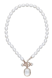 CDO  Pearl Crystal Necklace - Product Mini Image
