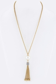 Nadya's Closet Pearl & Crystal Tassel-Necklace - Product Mini Image