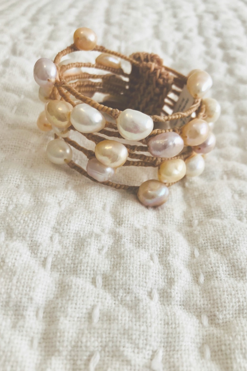 Maka Imports Hawaii Pearl Cuff Bracelet - Front Cropped Image