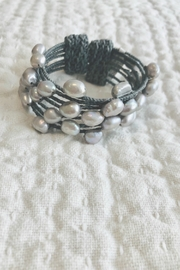 Maka Imports Hawaii Pearl Cuff Bracelet - Front cropped