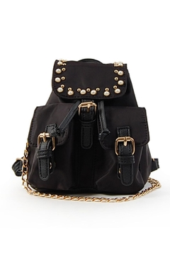 OMG! Accessories Pearl Detail Backpack - Product List Image
