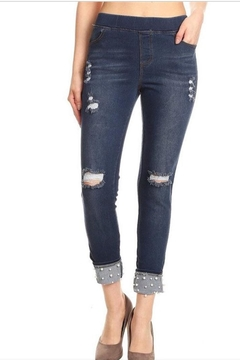 Shoptiques Product: Pearl Detail Jeggings