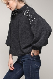 Mustard Seed Pearl Detailed Sweater - Product Mini Image