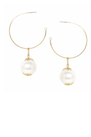 US Jewelry House Pearl Drop Hoop Earring - Product Mini Image