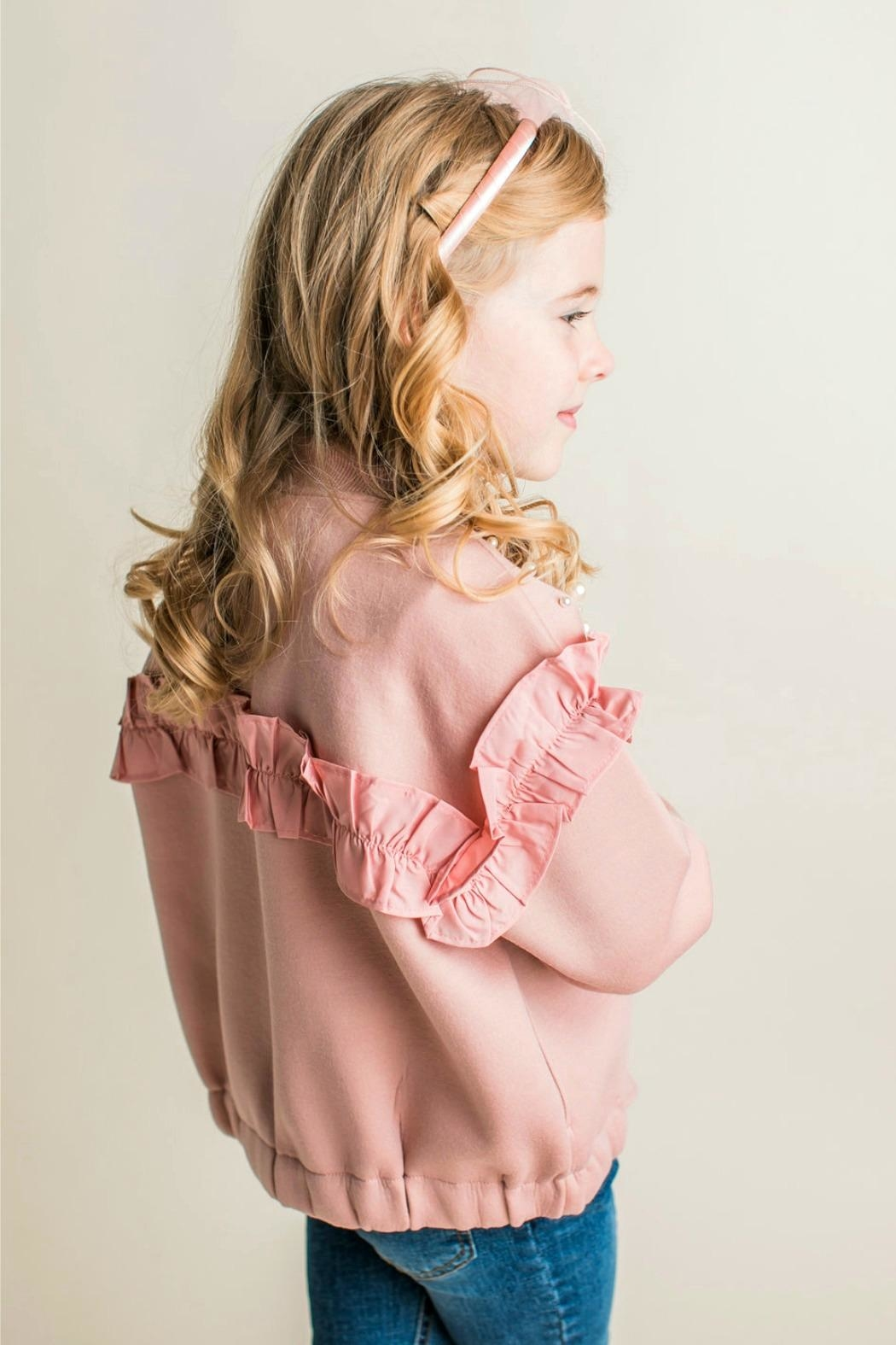 Maeli Rose Pearl Embellished Jacket - Front Full Image
