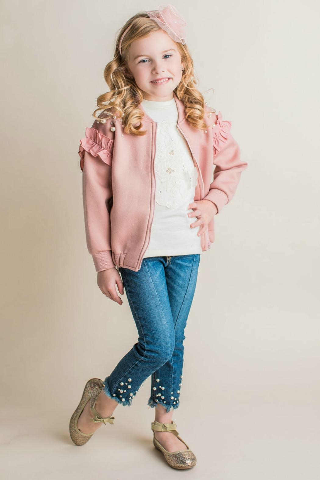 Maeli Rose Pearl Embellished Jacket - Main Image