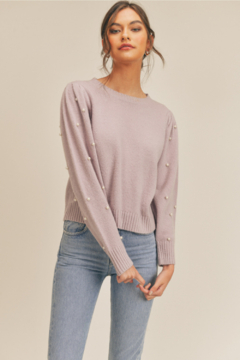 Lush Pearl Embellished Sweater - Product List Image