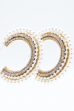 Mignonne Gavigan Fiona Pearl Hoop Earrings - Alternate List Image