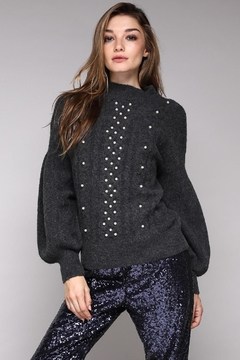Do & Be Pearl Front Sweater - Product List Image