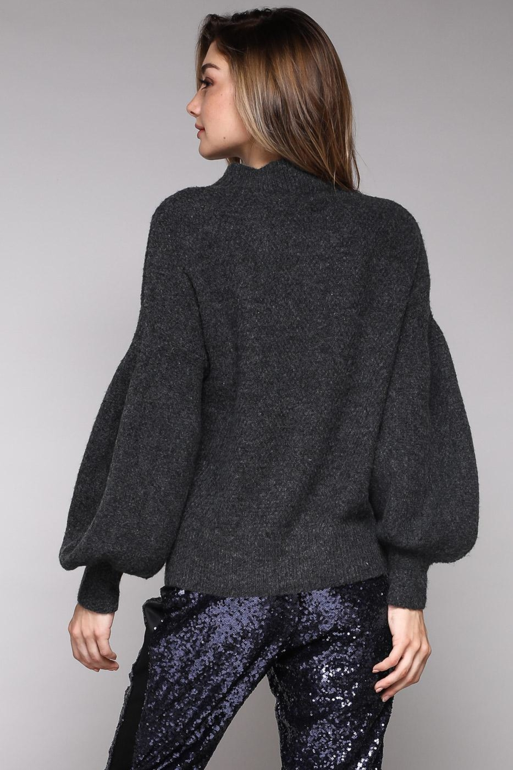 Do & Be Pearl Front Sweater - Side Cropped Image
