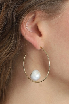 Pilgrim Pearl Gold-Plated Earrings - Product List Image