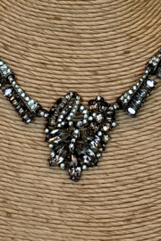 Dominique PEARL & HEMATITE NECKLACE - Back cropped