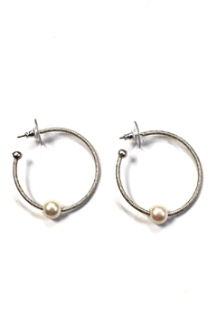 BeJe Pearl Hoops - Alternate List Image