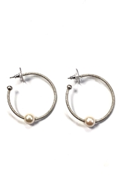 BeJe Pearl Hoops - Product Mini Image