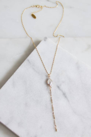 Mesa Blue Pearl Lariat Necklace - Product Mini Image