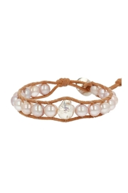 Chan Luu Pearl Leather Bracelet - Front cropped