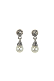 Diane's Accessories Pearl & Marcasite Earrings - Front cropped