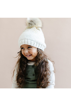 The Blueberry Hill Pearl Metallic Hat With Fur Pom Pom - Alternate List Image
